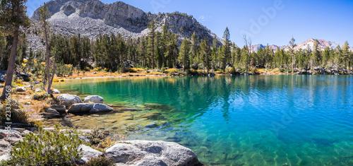 Fotografie, Obraz  Panoramic view of Steelhead Lake in the Eastern Sierra mountains, California