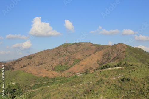 Poster Landschap mountain landscape at Ma Tso Lung