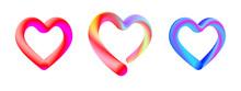 Colorful Contour Heart Shape S...