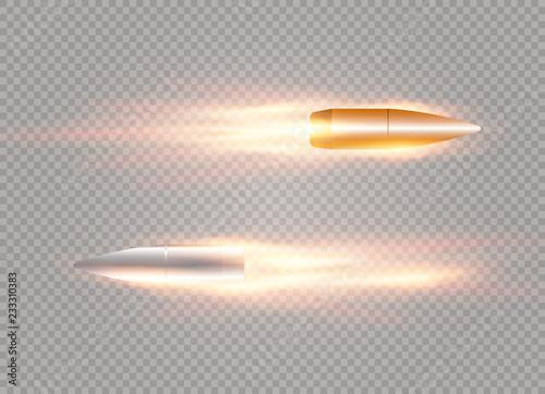 Fotografia flying bullet with