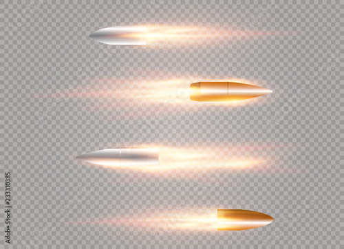 Foto flying bullet with