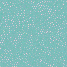 Seamless Vector Background Pattern Of Tiny Pale Dots On Turquoise Background. Dots Are Randomized, Has Organic Feel. Scattered And Pretty, For Textiles, Paper And Coordinating Designs.