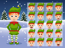 Christmas Elf Cartoon Emotion ...