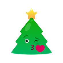 Kissing Christmas Tree Isolate...