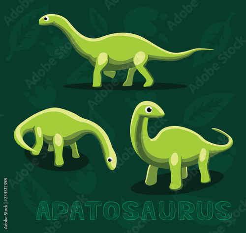 Photo  Dinosaur Apatosaurus Cartoon Vector Illustration