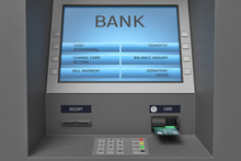 3d Rendering Of An ATM Machine...