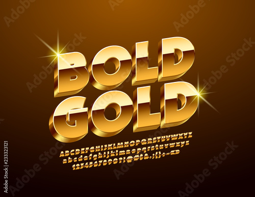 Fotografía  Luxury Golden 3D Font