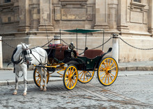 Horse Carriage In Front Of The...