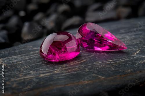 Rubellite rubellus gemstone jewelry.