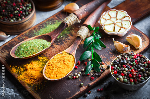 Fototapety, obrazy: Spices and condiments for food