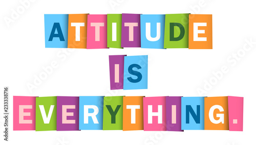 ATTITUDE IS EVERYTHING Typography Poster Tablou Canvas