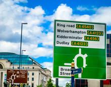 Road Sign In Birmingham 1