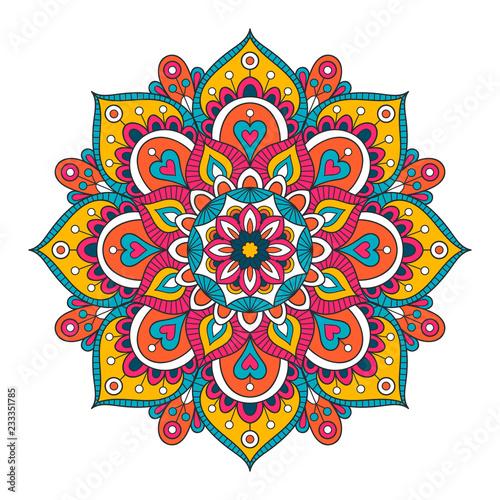 Valokuvatapetti Vector hand drawn doodle mandala