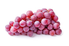 Bunch Of Red Grapes Isolated O...