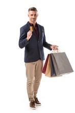Cheerful Stylish Man With Shop...