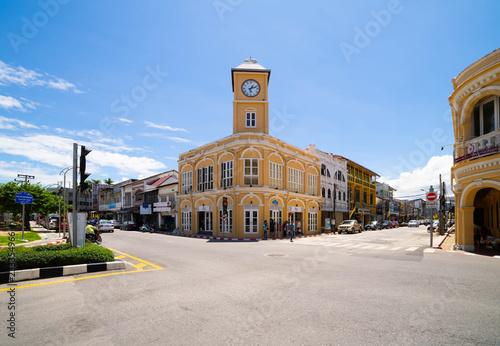 Valokuvatapetti Phuket clock town at phuket, thailand