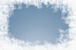 canvas print picture - natürlich gewachsene Eiskristalle auf Blau