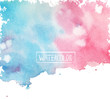 watercolor, beautiful abstract background,colored spots vector,handmade, card for you, pink and blue