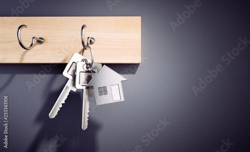 Wohnungs-Schlüssel am Schlüsselbrett Canvas Print