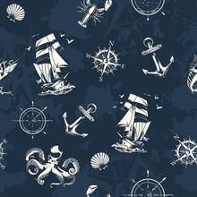 Vintage Sea And Nautical Seaml...