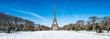 Paris Panorama im Winter mit Eiffelturm