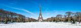 Fototapeta Fototapety Paryż - Paris Panorama im Winter mit Eiffelturm