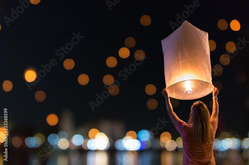 Photo Floating lanterns Festival