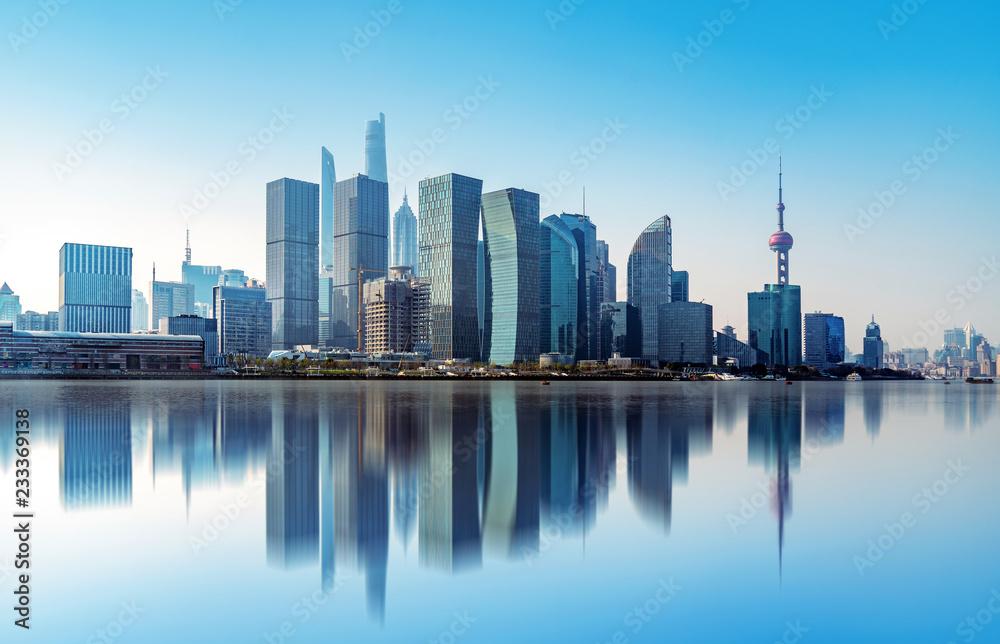 Fototapeta Shanghai city skyline