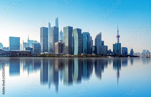 Spoed Foto op Canvas Abu Dhabi Shanghai city skyline