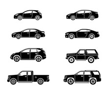 Set Of Personal Cars. Set Of A...