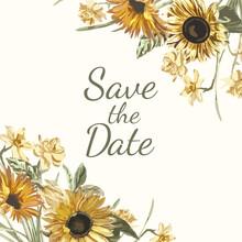Save The Date Invitation Mockup Vector