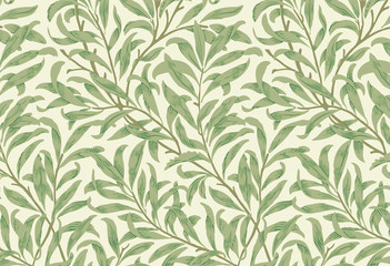 Willow Bough by William Morris (1834-1896). Original from the MET Museum. Dig...