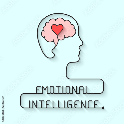 Emotional intelligence concept Wall mural