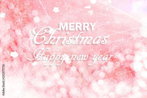 Fototapeta merry christmas happy new year holiday concept greeting background obraz na płótnie