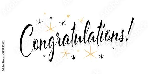 Fotomural  Congratulations !