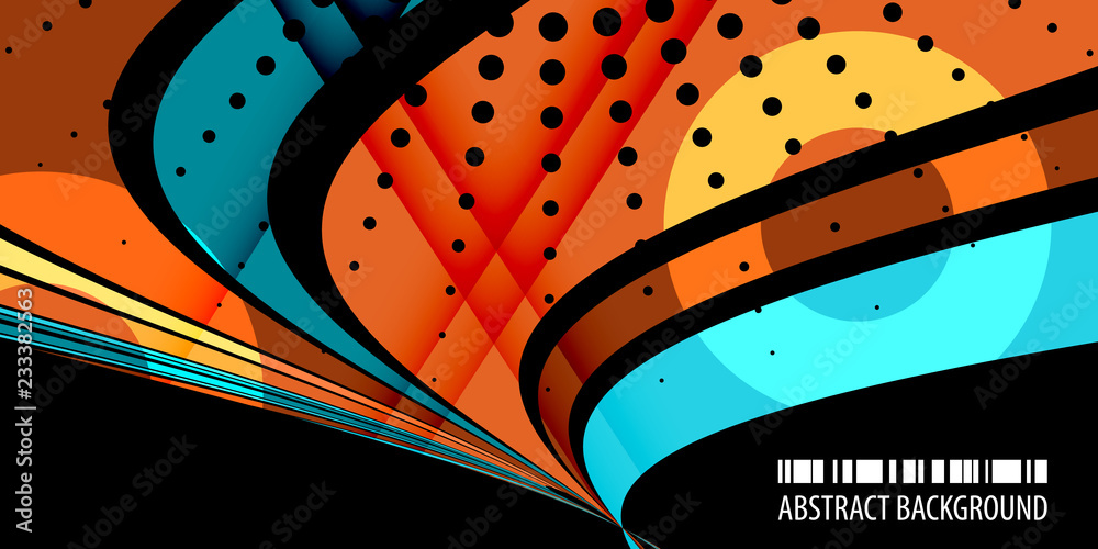 Fototapeta Geometric colorful abstract background
