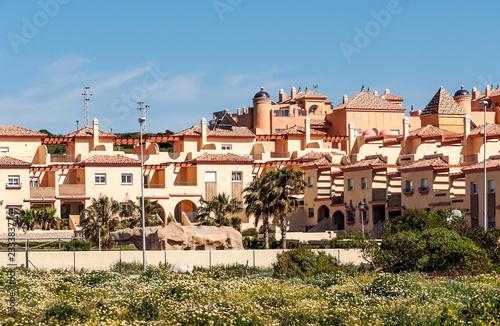 Fotografía  Tourist buildings in Tarifa in the south of Spain