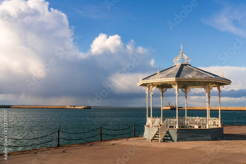 The Dun Laoghaire bandstand landmark located on the East pier of the harbour in Dublin, Ireland Wallpaper Mural