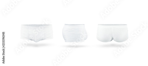 26bc5f35b8 Blank white mens trunks underwear mockup set - Buy this stock photo ...