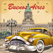 Buenos Aires Retro Poster.