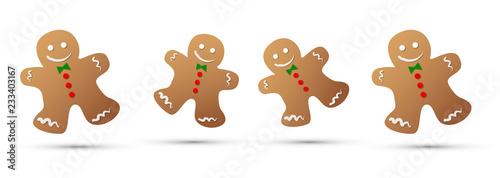 Fotografie, Obraz  pan di zenzero, dolci, natale, dolciumi, biscotto