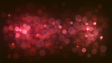 Blurred Abstract Red Background With Lights