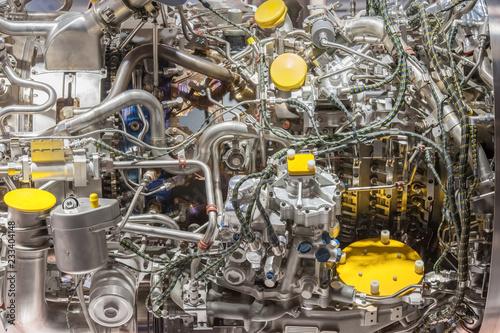 Fotografie, Obraz  complex jet engine detail closeup