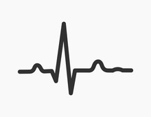 Electrocardiogram ECG Heartbeat Rhytm Line Graph Icon