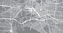 Urban Vector City Map Of Melbourne, Australia
