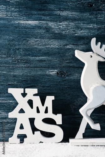 Fotografia, Obraz  text xmas, abbreviation for Christmas