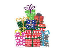 Vector Image Of Holiday Gifts ...