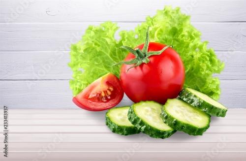 Fotografering  Fresh vegetables isolated on white