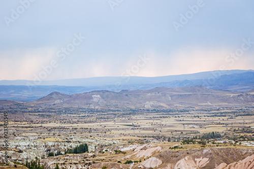 Keuken foto achterwand Blauwe hemel landscape of rocky formation in cappadocia