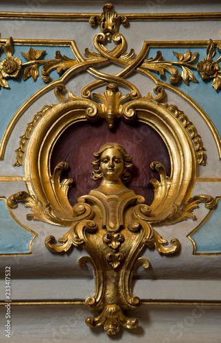 Fototapeta Détail de retable baroque à Arcos de Valdevez, Minho, Portugal